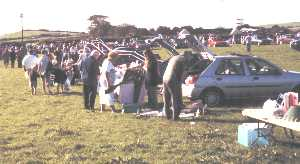 The local car boot sales run by Looe Lions Club and held weekly near Polperro in the summer months