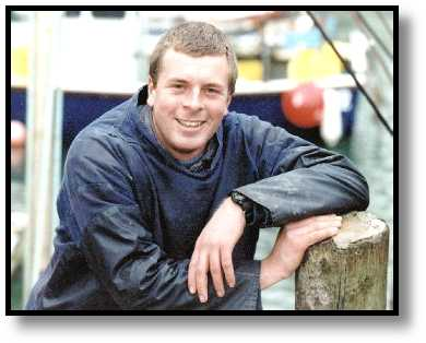 Daniel Kebble, the Polperro fisherman tragically lost at sea on 8 January 2000