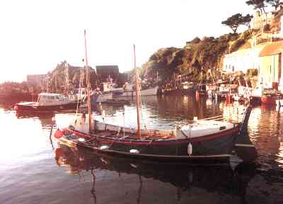 Ryder lifeboat moored in Polperro harbour, September 2000