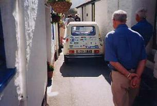 Citroen Dyane jammed in the Warren - June 2004