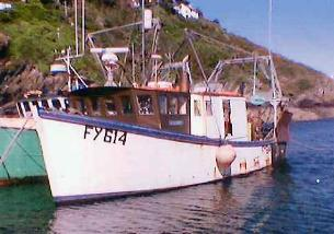 The Cazadora - winner of the Looe trawler race 2004